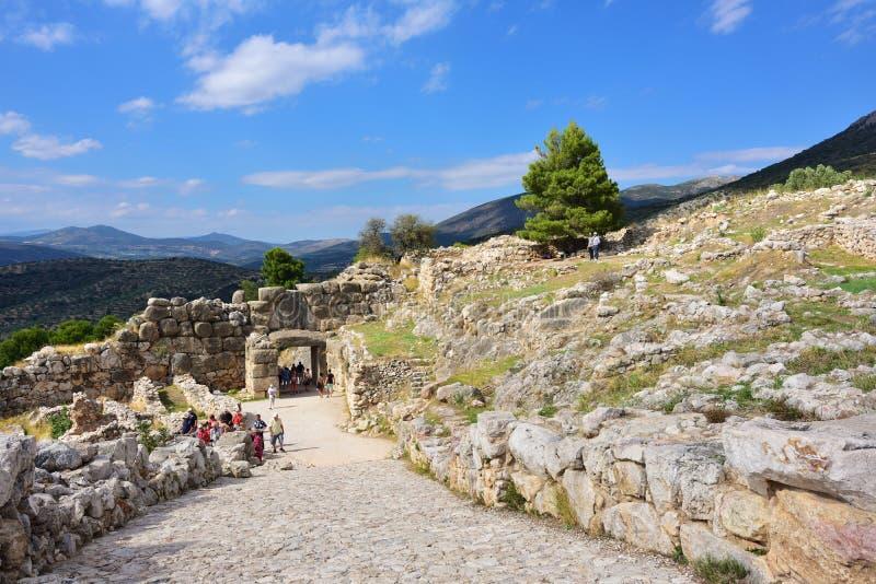 Sites archéologiques de Mycenae et de Tiryns, Grèce image libre de droits
