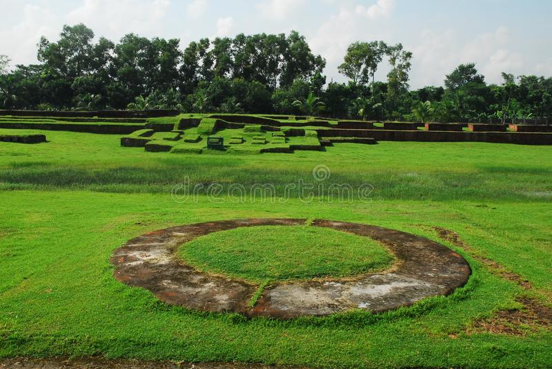Sites archéologiques de Paharpur le Bihar au Bangladesh photo stock
