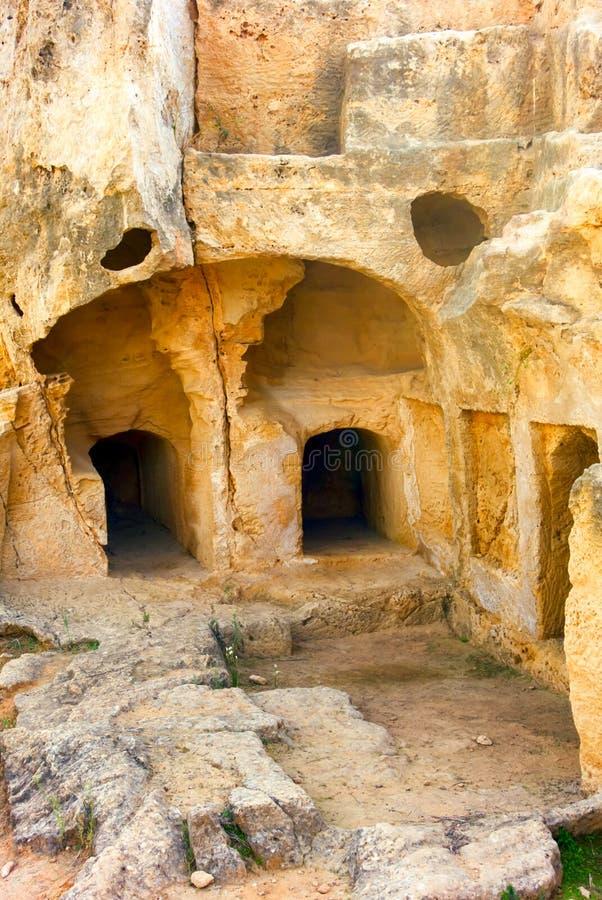 Sites excavés aux tombes des rois, Paphos, Chypre photo libre de droits