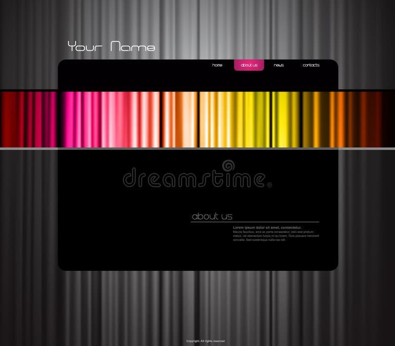 Siteschablone mit farbigem Trennvorhang. lizenzfreie abbildung