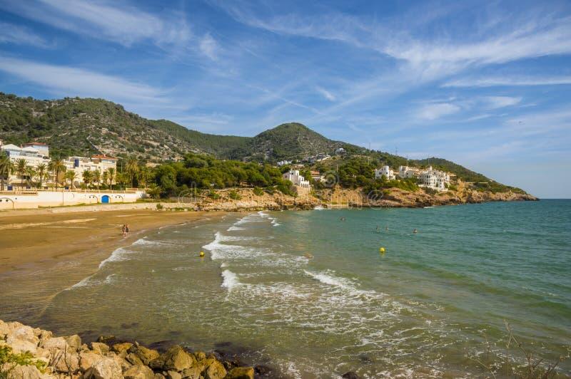sitges Испания Каталонии стоковое изображение rf