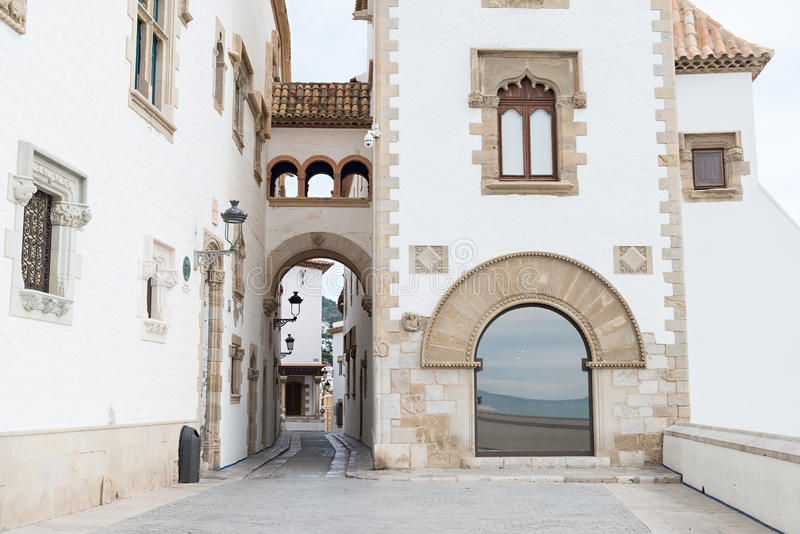 Sitges - Barcelona (Spain). Details city of Sitges in Barcelona (Spain royalty free stock photography