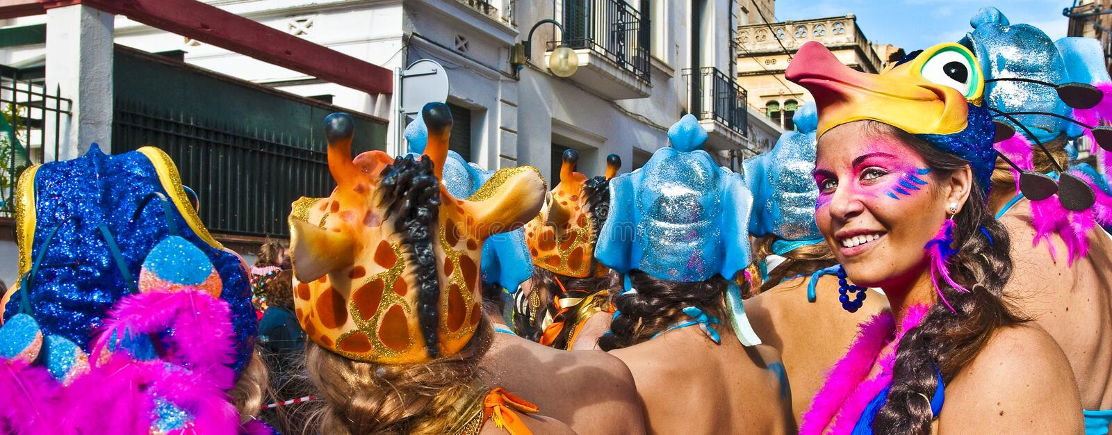 Sitges Carnival 2010 royalty free stock photography