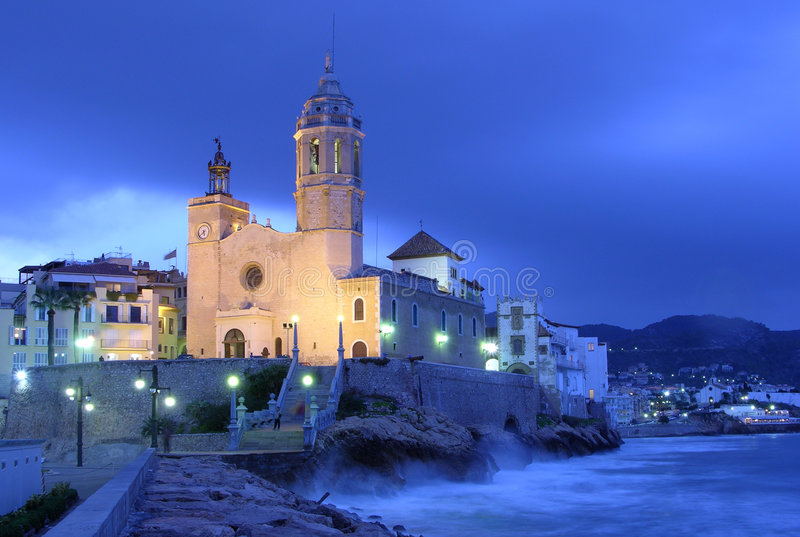 Sitges church royalty free stock photography