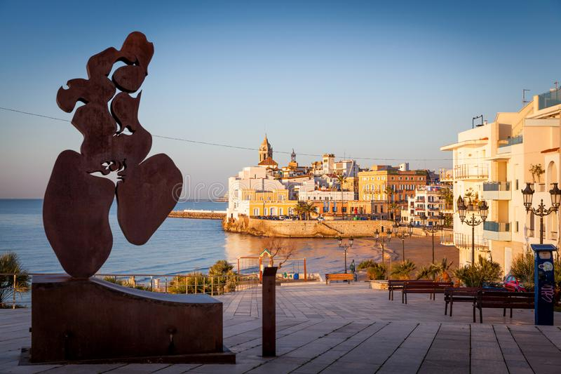 Sitges, gay friendly town near Barcelona stock photography