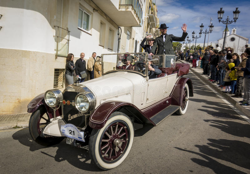 Sitges, Spain - March 5 2017: 59th Vintage Car Rally Barcelona-Sitges stock photography