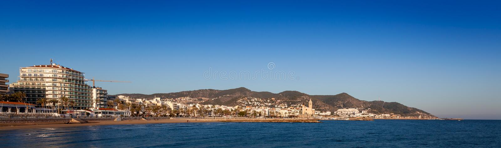 Sitges in summer royalty free stock photo