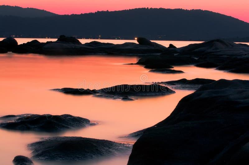 Sithonia, Aegean Sea after sunset