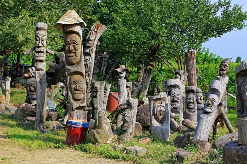 Siti del patrimonio mondiale dell'Unesco della Corea - villaggio delle gente di Hahoe immagine stock