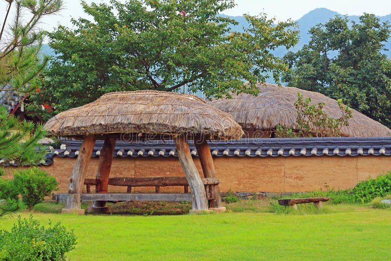 Siti del patrimonio mondiale dell'Unesco della Corea - villaggio delle gente di Hahoe immagini stock