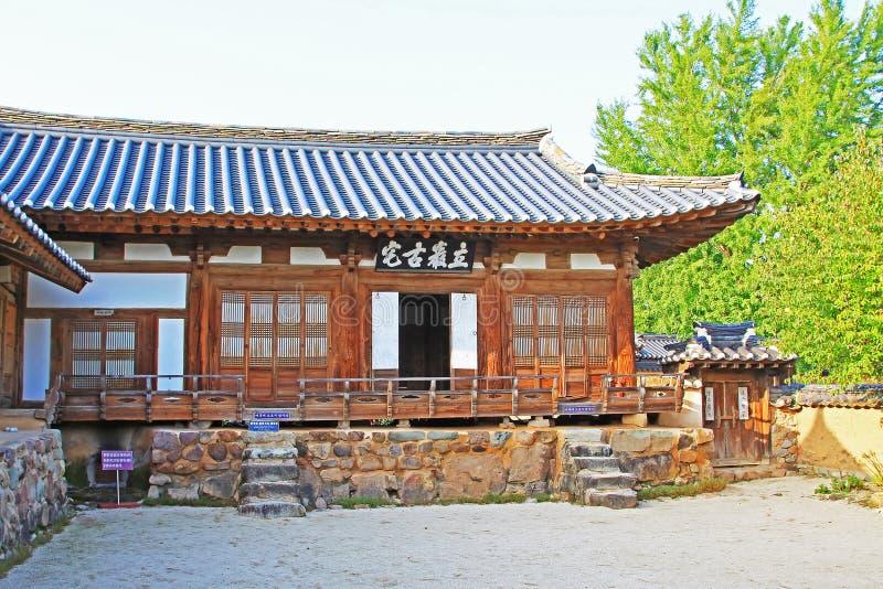 Siti del patrimonio mondiale dell'Unesco della Corea - villaggio delle gente di Hahoe immagine stock libera da diritti