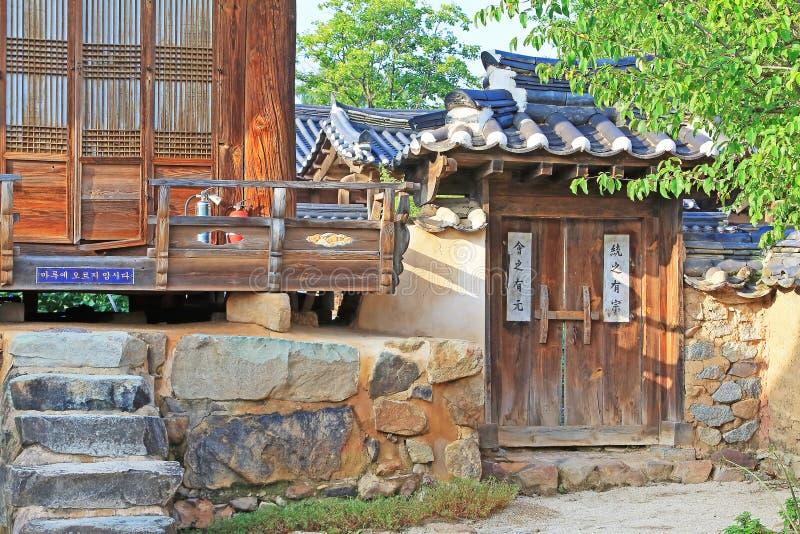 Siti del patrimonio mondiale dell'Unesco della Corea - villaggio delle gente di Hahoe fotografia stock libera da diritti