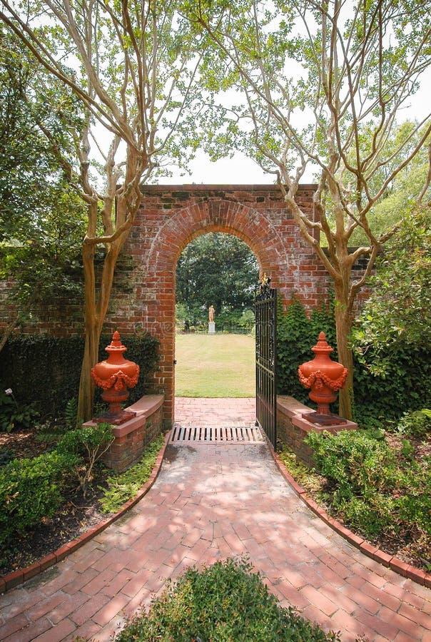 Siti storici & giardini del palazzo di Tryon fotografia stock libera da diritti