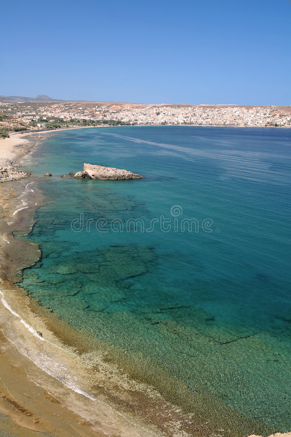Download Sitia Bay view vertical stock image. Image of coastline - 7359267