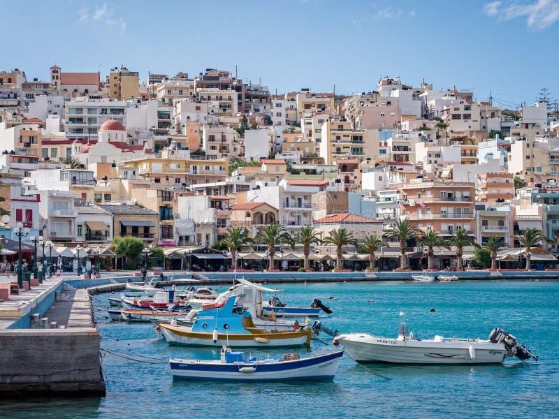 Sitia Harbour in Crete, Greece stock photo