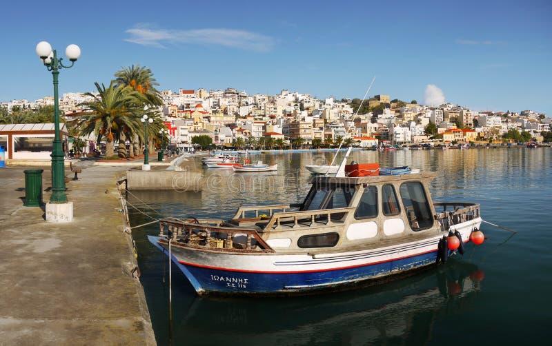 Sitia Havenstad Kreta Griekenland stock foto's