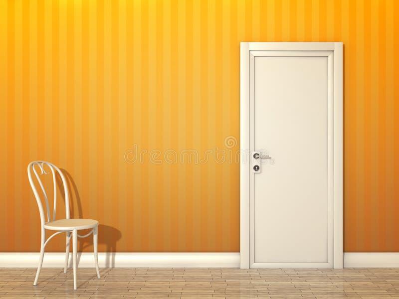 Sitio anaranjado ilustración del vector