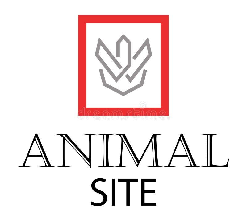 Sitio animal ilustración del vector