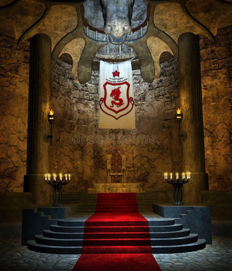Sitio antiguo 2 del trono stock de ilustración