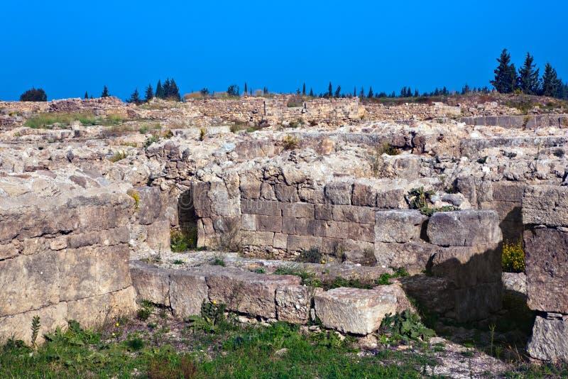 Sitio antiguo de Siria - de Ugarit cerca de Latakia fotos de archivo