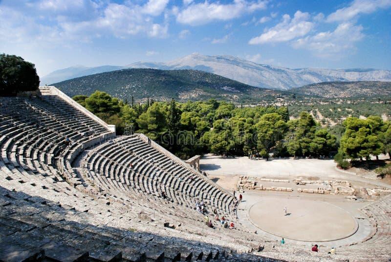 Sitio arqueológico antiguo de Olympia en Grecia fotografía de archivo
