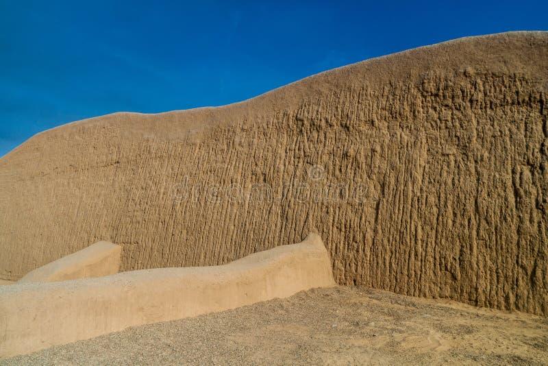 Sitio arqueológico Chan Chan fotografía de archivo libre de regalías
