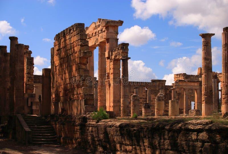 Sitio arqueológico de Cyrene, Cyrenaica, Libia - sitio del patrimonio mundial de la UNESCO imágenes de archivo libres de regalías