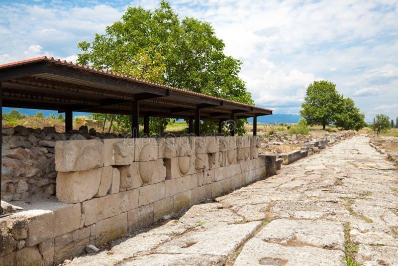 Sitio arqueológico de Dion imagen de archivo libre de regalías