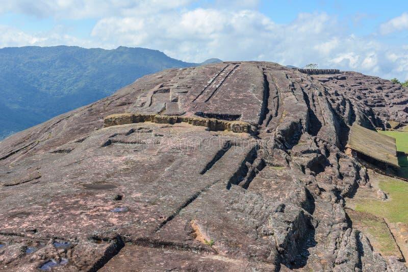 Sitio arqueológico de El Fuerte de Samaipata, Bolivia foto de archivo libre de regalías