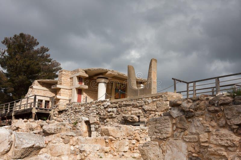 Sitio arqueológico de Knossos foto de archivo libre de regalías