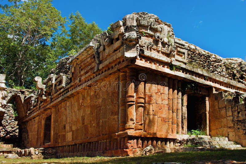 Sitio arqueológico de Labna en la península del Yucatán, México imagenes de archivo