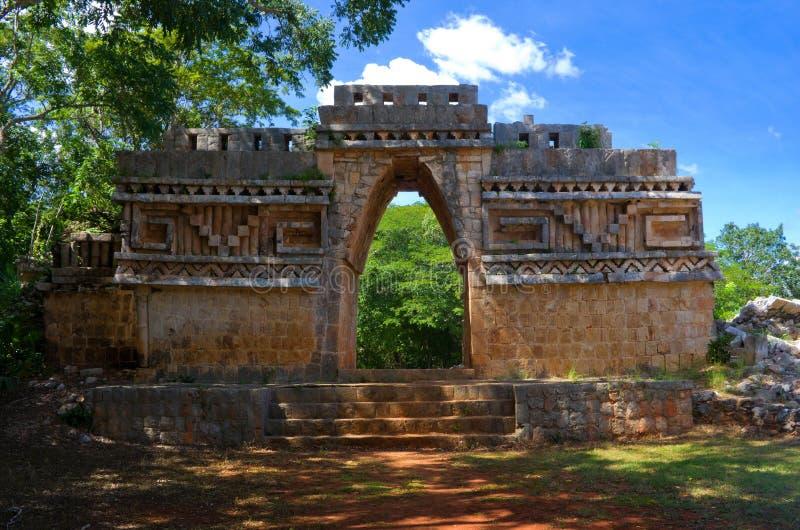 Sitio arqueológico de Labna en la península del Yucatán, México imágenes de archivo libres de regalías