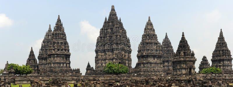 Sitio arqueológico de Prambanan en la isla de Java imagenes de archivo
