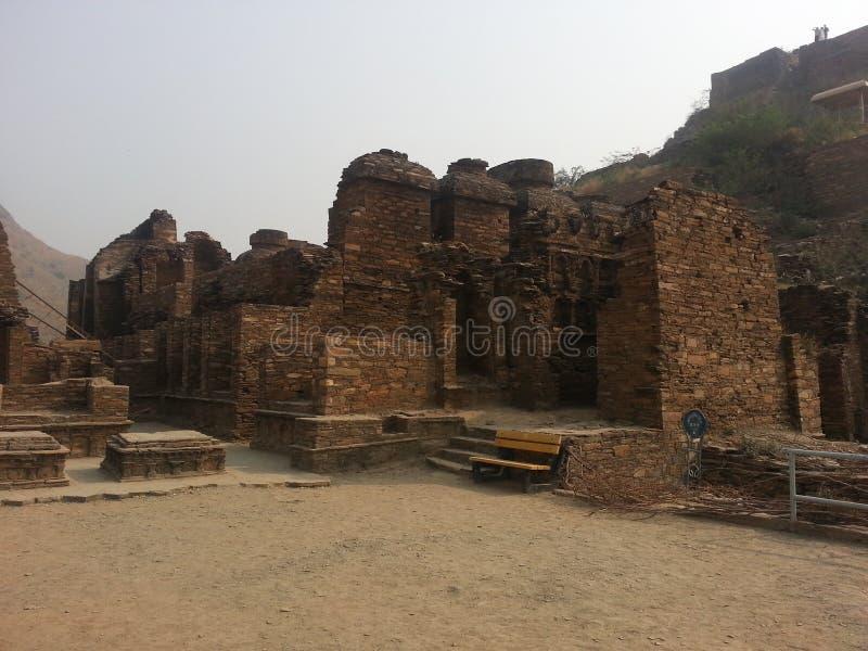 Sitio arqueológico de Takht-i-Bhai Parthian y monasterio budista imagen de archivo libre de regalías