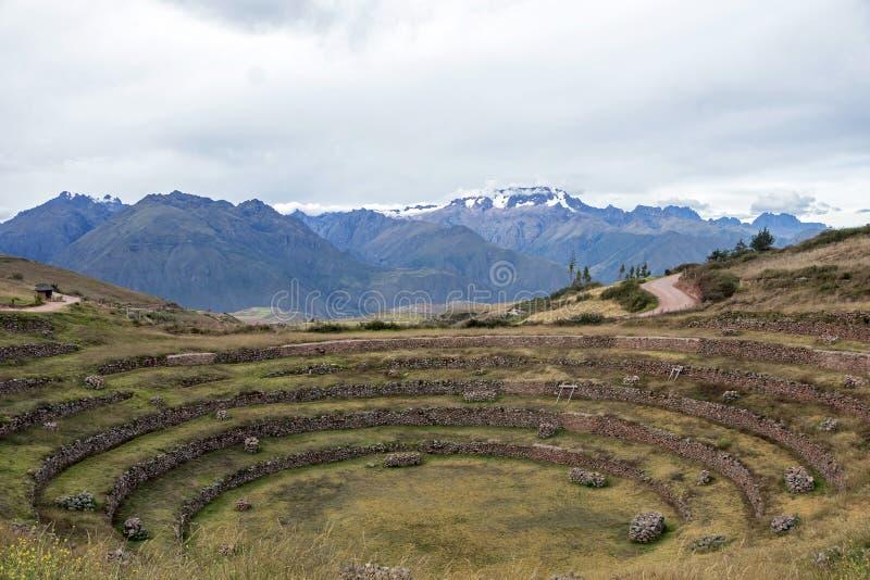 Sitio arqueológico del Moray en Perú imagen de archivo libre de regalías