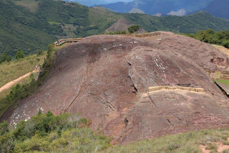 Sitio arqueológico El Fuerte de Samaipata, Bolivia imágenes de archivo libres de regalías