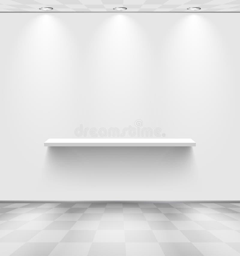 Sitio blanco con el estante ilustración del vector