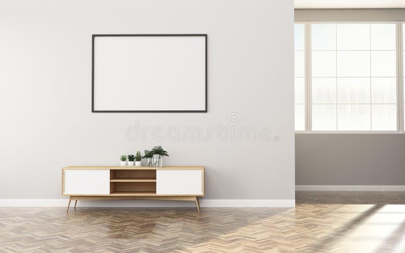 Sitio blanco con el gabinete Espacio vacío en oficina libre illustration