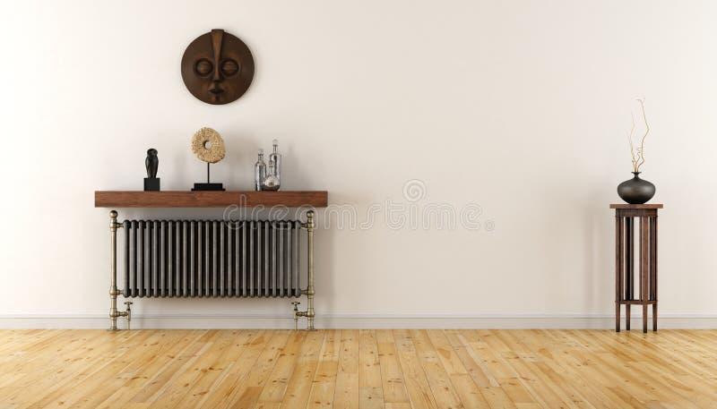 Sitio blanco con el radiador del vintage ilustración del vector