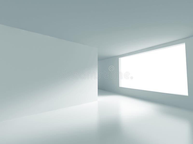 Sitio blanco con la luz de la ventana Fondo interior abstracto stock de ilustración