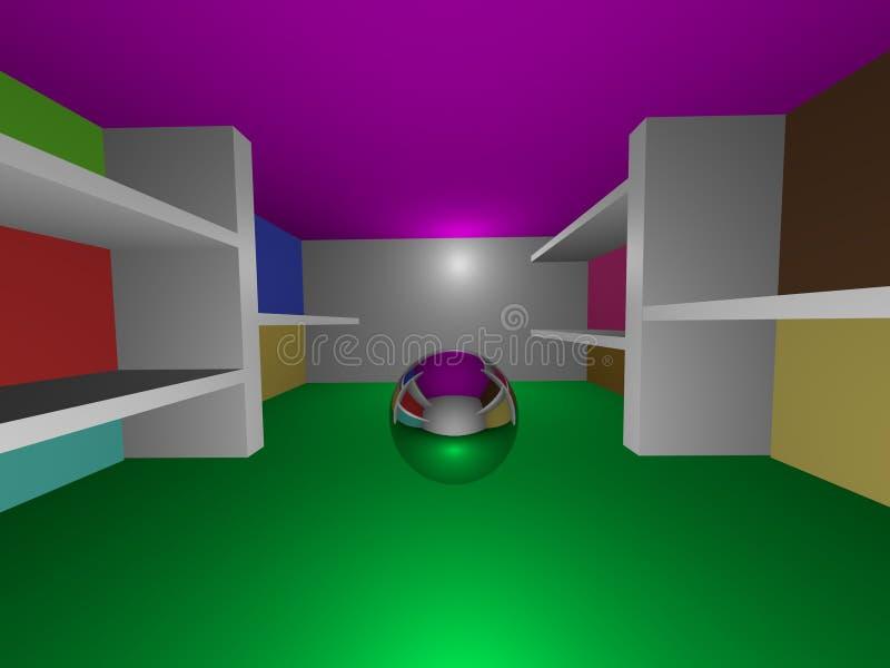Sitio brillante de la esfera stock de ilustración