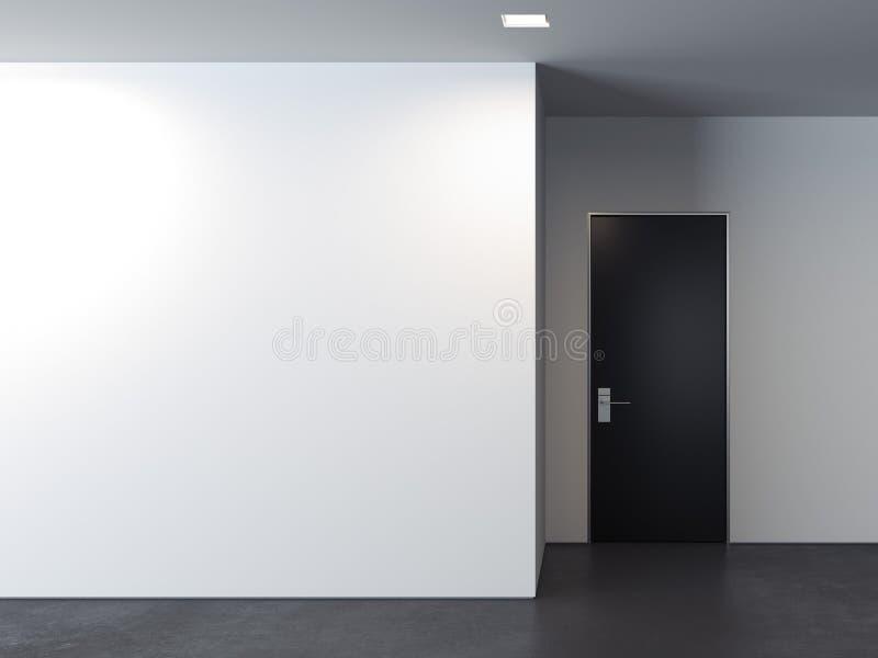 Sitio brillante moderno con las paredes blancas, representación 3d ilustración del vector