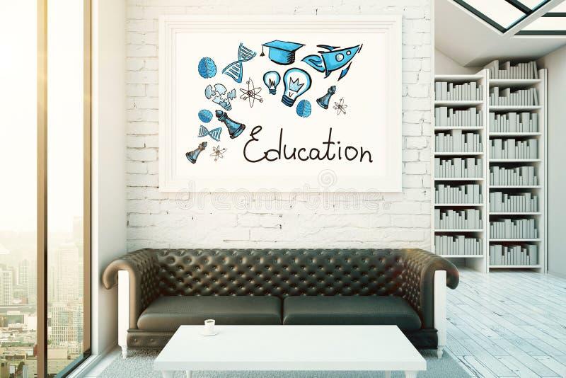 Sitio con bosquejo del conocimiento stock de ilustración