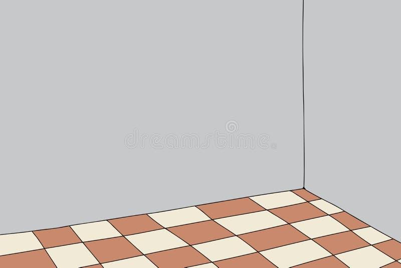 Sitio con el piso a cuadros libre illustration