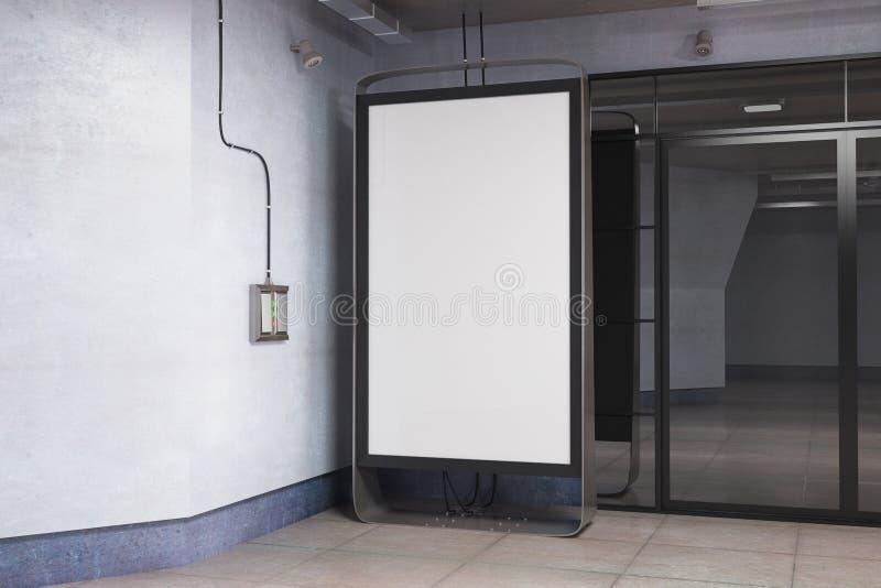 Sitio con la bandera del anuncio ilustración del vector