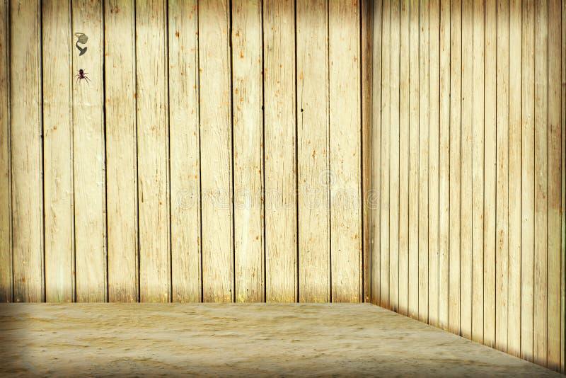 Sitio con la pared de madera imagen de archivo