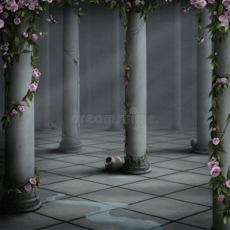 Sitio con las rosas libre illustration
