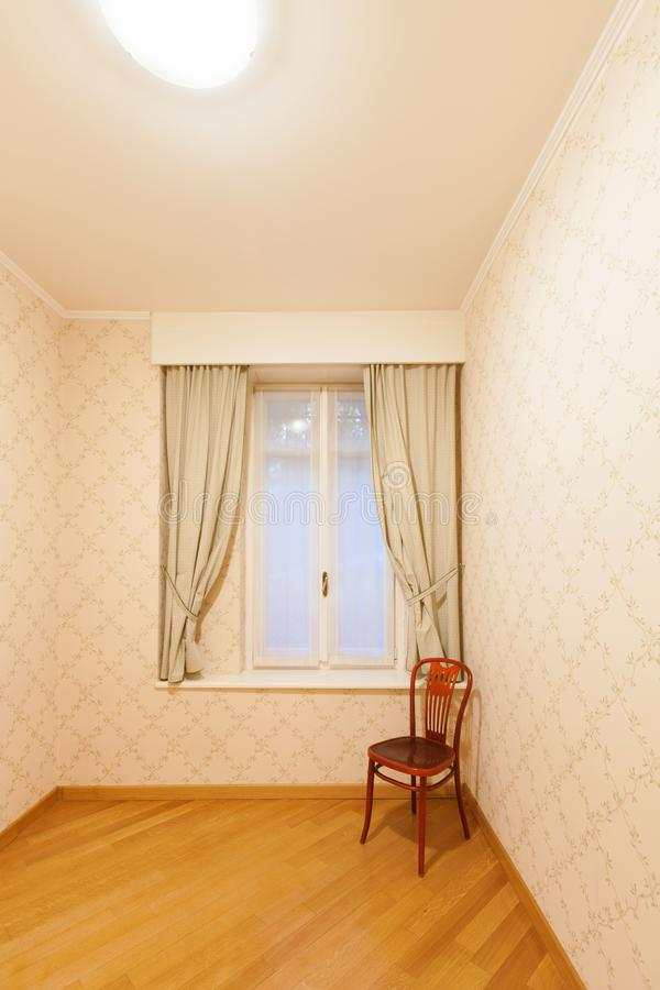 Sitio con tapicería en las paredes fotos de archivo libres de regalías