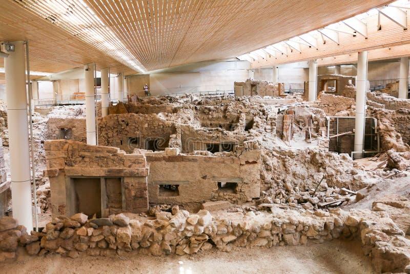 Sitio de Akrotiri foto de archivo libre de regalías