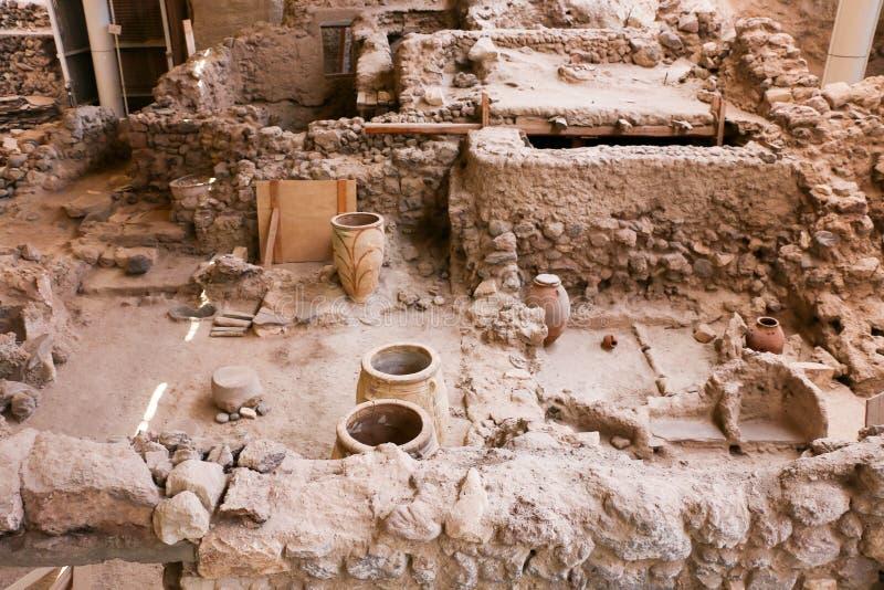 Sitio de Akrotiri imagen de archivo